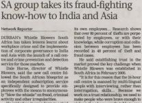 SA group takes its fraud-fighting know-how to India and Asia<br />June 2013