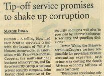 Tip offs<br />April 2000