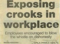 Exposing crooks in the workplace<br />April 2000
