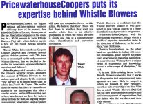 PrucewaterhouseCoopers puts its expertise behind Whistle Blowers<br />October 2000