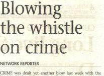 Blowing the whistle on Crime<br />April 2000