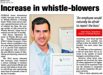 Increase in Whistle Blowers 28 March 2014