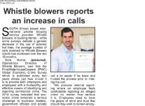 Whistle Blowers reports an increase in calls, April 2014
