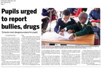 Pupils urged to report bullies,drugs. July 2015