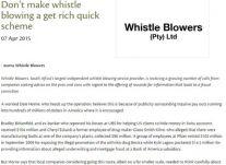 Don't make whistle blowing a get rich quick scheme<br />April 2015