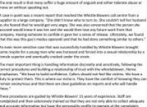 Whistle Blowers Helps Companies Tackle Sexual Harassment 5 July 2015