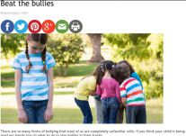 Beat the bullies,  3 July 2015