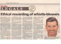 Ethical rewarding of whistle-blowers, 13 November 2015