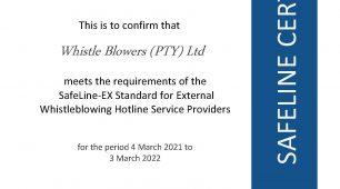 SafeLine-EX Standard Certificate